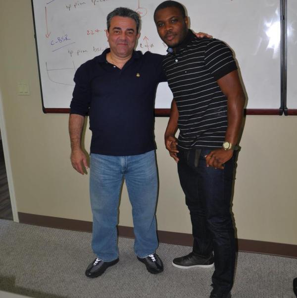 André Anivaldo e o renomado instrutor Narbik Kocharians